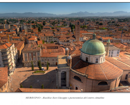 Seregno - Basilica San Giuseppe e panoramica del centro cittadino