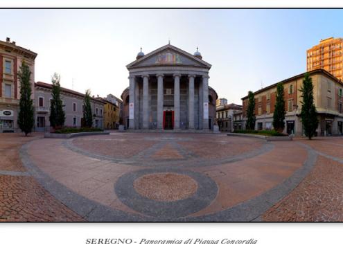 Seregno - Panoramica di Piazza Concordia