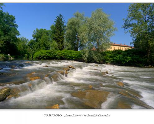 Triuggio - fiume Lambro in località Canonica