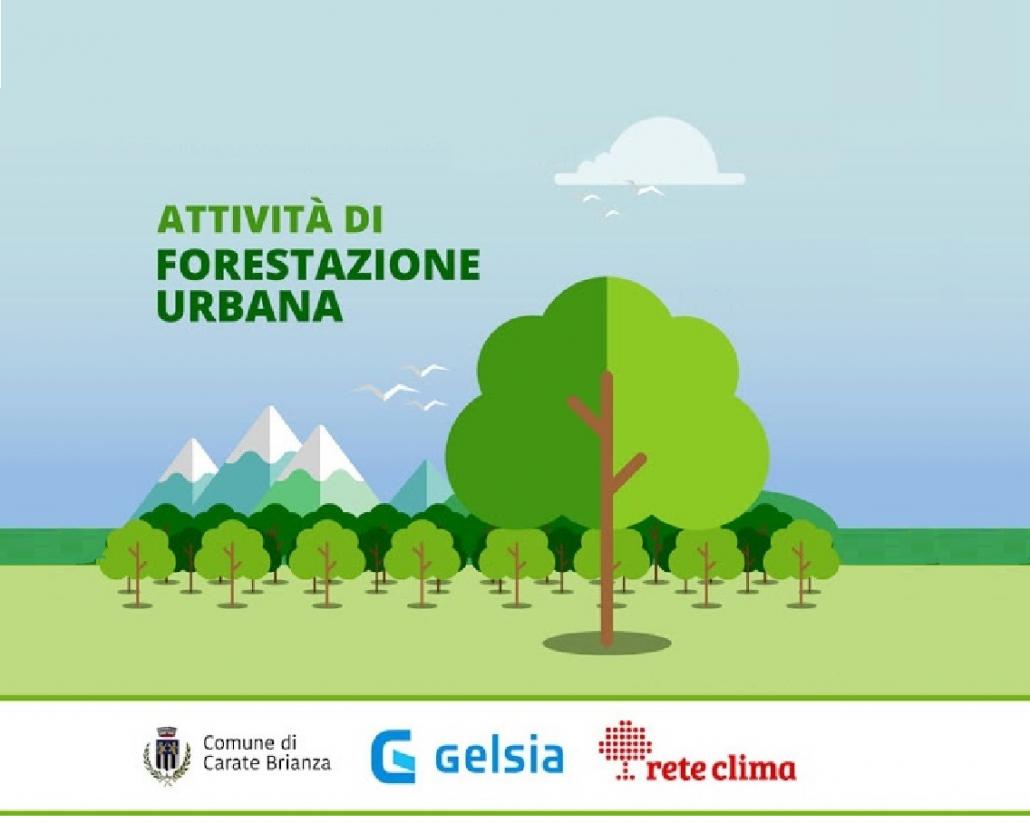 Progetto di forestazione urbana nel Comune di Carate Brianza